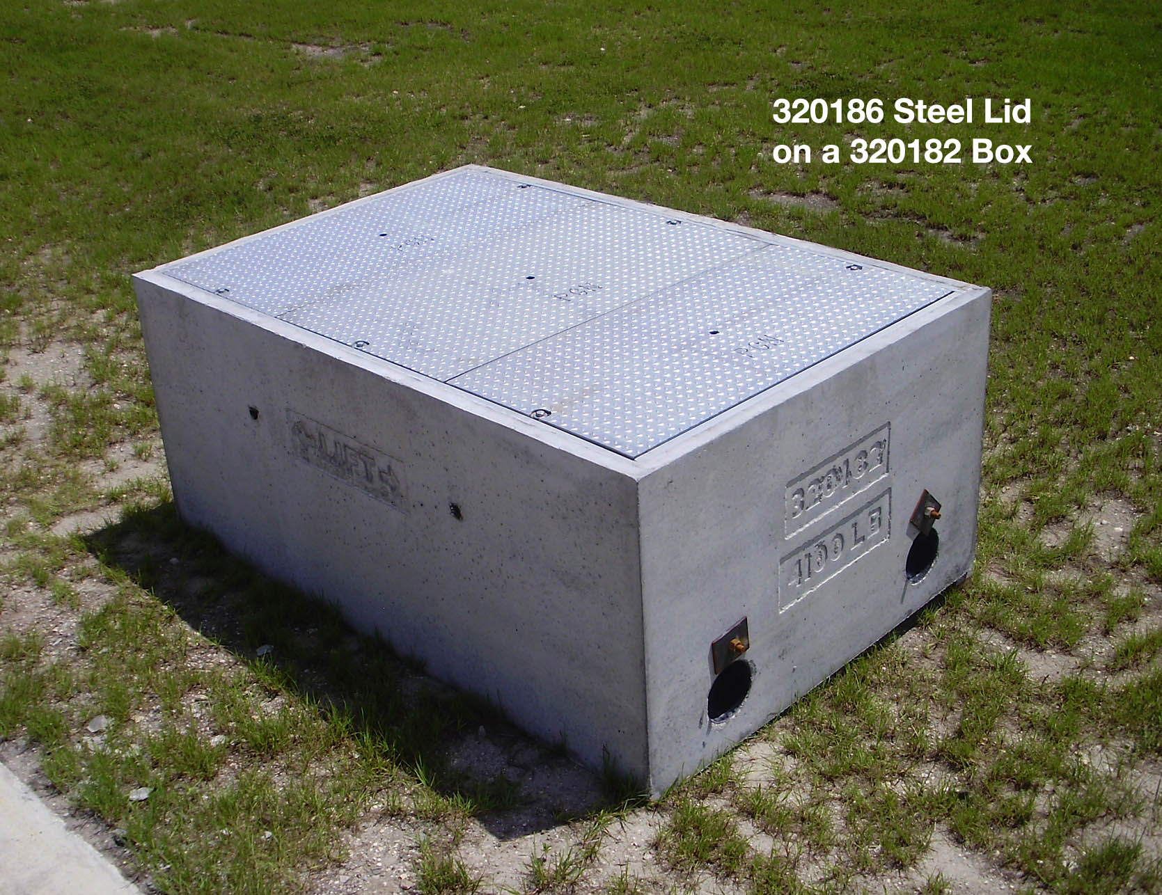 320186 3 Piece Parkway Rated Steel Pull Box Lid For 320182