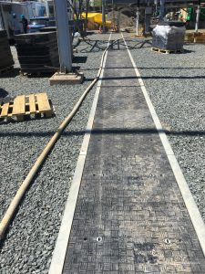Fibrelite covers on Trenwa Cable trench