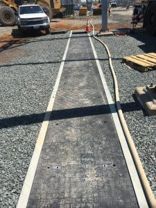 Fibrelite lids on Trenwa cable trench