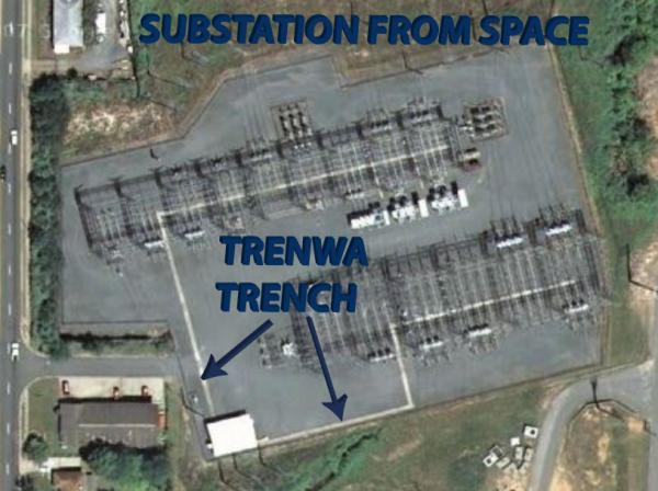 Trenwa trench from space